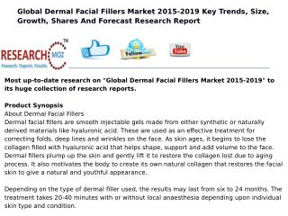 Global Dermal Facial Fillers Market 2015-2019