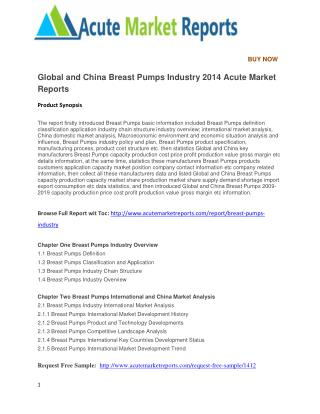 Global and China Breast Pumps Industry 2014 Acute Market Reports