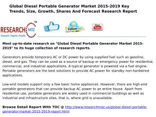 Global Diesel Portable Generator Market 2015-2019