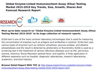 Global Enzyme-Linked Immunosorbent Assay (Elisa) Testing Market 2015-2019