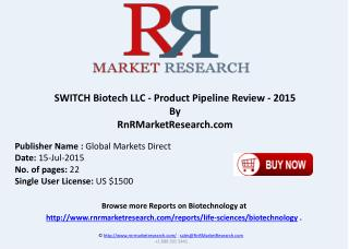 SWITCH Biotech LLC Product Pipeline Therapeutics Assessment Review 2015