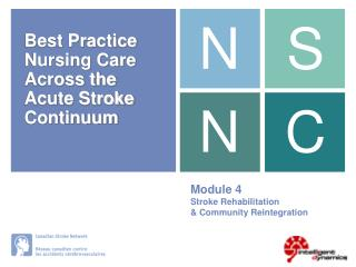 Module 4 Stroke Rehabilitation & Community Reintegration