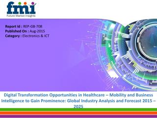 Global Digital Transformation Market in Healthcare is Anticipated to Grow at a CAGR of 13.7% through 2025
