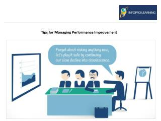 Tips for Managing Performance Improvement