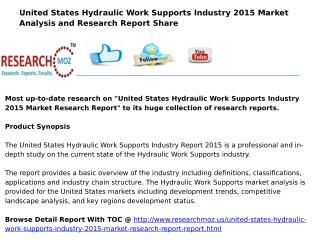 United States Hydraulic Work Supports Industry 2015 Market Research Report