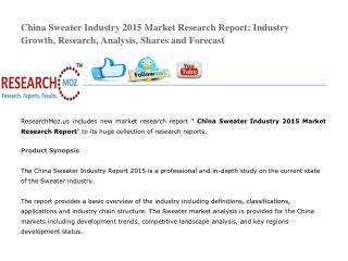 China Sweater Industry 2015 Market Research Report