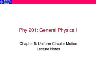 Phy 201: General Physics I