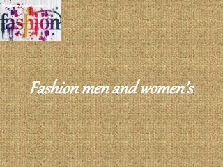 Fashion men and women's