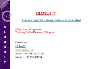 SAP Ui5 Training Institutes in hyderabad