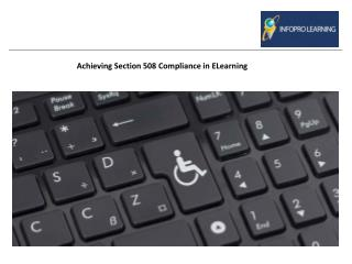 Achieving Section 508 Compliance in Elearning