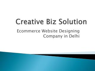 Website Design Company in Delhi | Creative Biz Solution