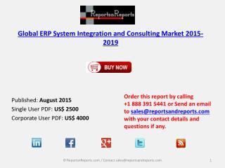 ERP System Integration and Consulting Market Size & Forecast to 2019