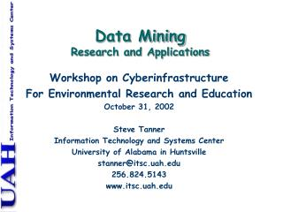 Data Mining Research and Applications