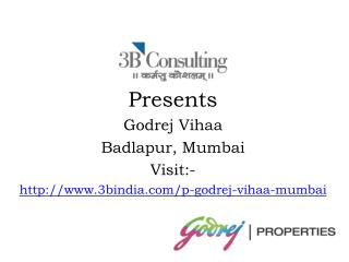 Godrej Vihaa Best Residential Project At Badlapur Mumbai