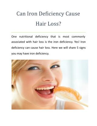 Can Iron Deficiency Cause Hair Loss?