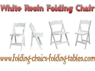White Resin Folding Chair  - Larry Hoffman Chair