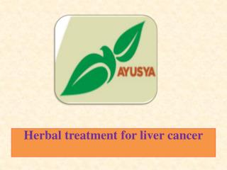 Herbal treatment for liver cancer