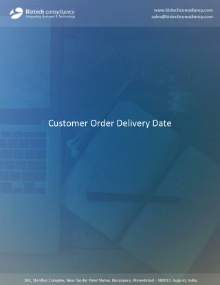 Odoo Customer Order Delivery Date Apps