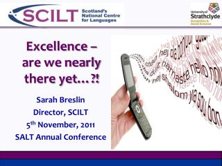 Excellence – are we nearly there yet…?!