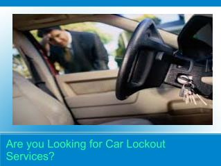 Car Locksmith Company Cincinnati