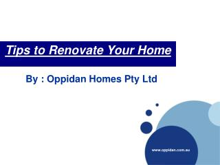 Tips to Renovate Your Home
