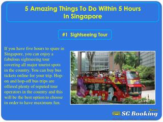 5 amazing things to do within 5 hours in Singapore
