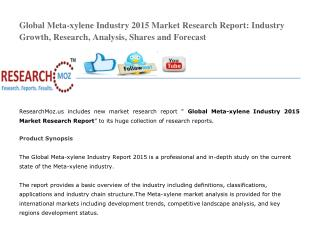 Global Meta-xylene Industry 2015 Market Research Report