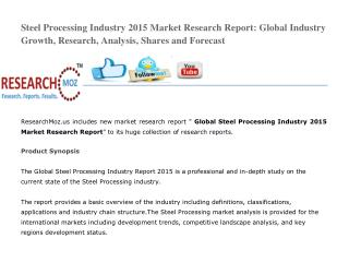 Global Steel Processing Industry 2015 Market Research Report