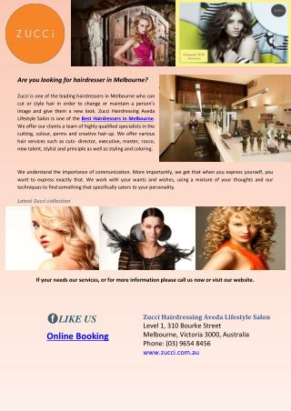 Are you looking for hairdresser in melbourne