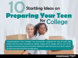 10 Starting Ideas on Preparing your Teen for College