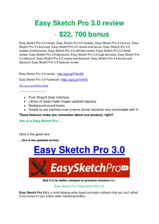 Easy Sketch Pro 3.0 REVIEW and GIANT $21600 bonuses