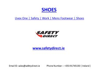 Uvex One | Safety | Work | Mens Footwear | Shoes | safetydirect.ie