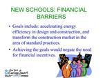 NEW SCHOOLS: FINANCIAL BARRIERS