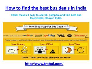 Grab a flat 50% Off on Bus Tickets Online @ www.trabol.com | Great Deals at One Place