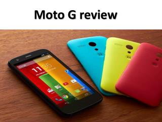 Moto G review