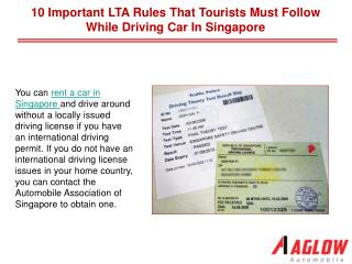 10 Important LTA rules that tourists must follow while driving car in Singapore