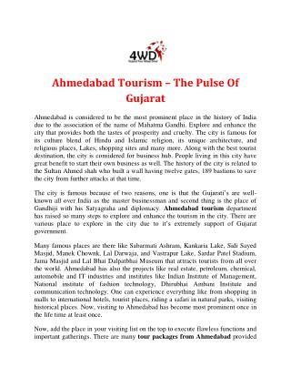 The Pulse Of Gujarat - Ahmedabad Tourism