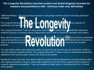 The Longevity Revolution launches custom own brand longevity formulas