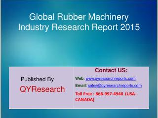 Global Rubber Machinery Market 2015 Industry Research, Analysis, Forecasts, Shares, Growth, Insights, Overview and Appli