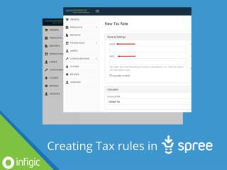 How to create tax rules in Spree Commerce