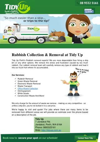 Rubbish Collection & Removal at Tidy Up