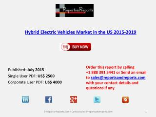 Hybrid Electric Vehicles Market in the US 2015-2019