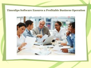 Timeslips Software Ensures a Profitable Business Operation
