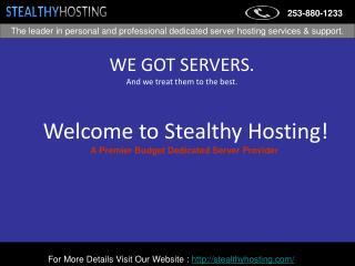 Dedicated Servers- Stealthy Hosting