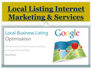 Local Listing Internet Marketing & Services