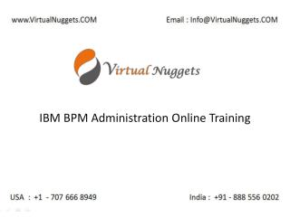 Instructor Led Live IBM Lombardi BPM Administration 8.5.6