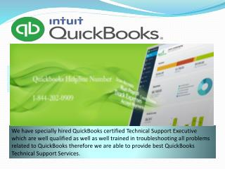 QuickBooks Not Work Support Phone Number 1-844-202-0909