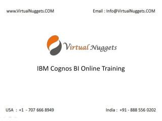 Instructor Led Live IBM Cognos BI Corporate Online Training Services