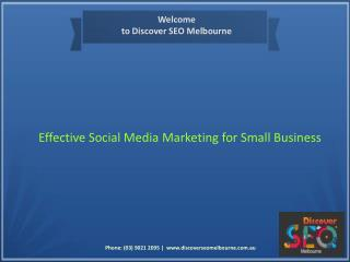 Effective Social Media Marketing Services for Small Business