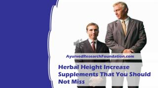 Herbal Height Increase Supplements That You Should Not Miss